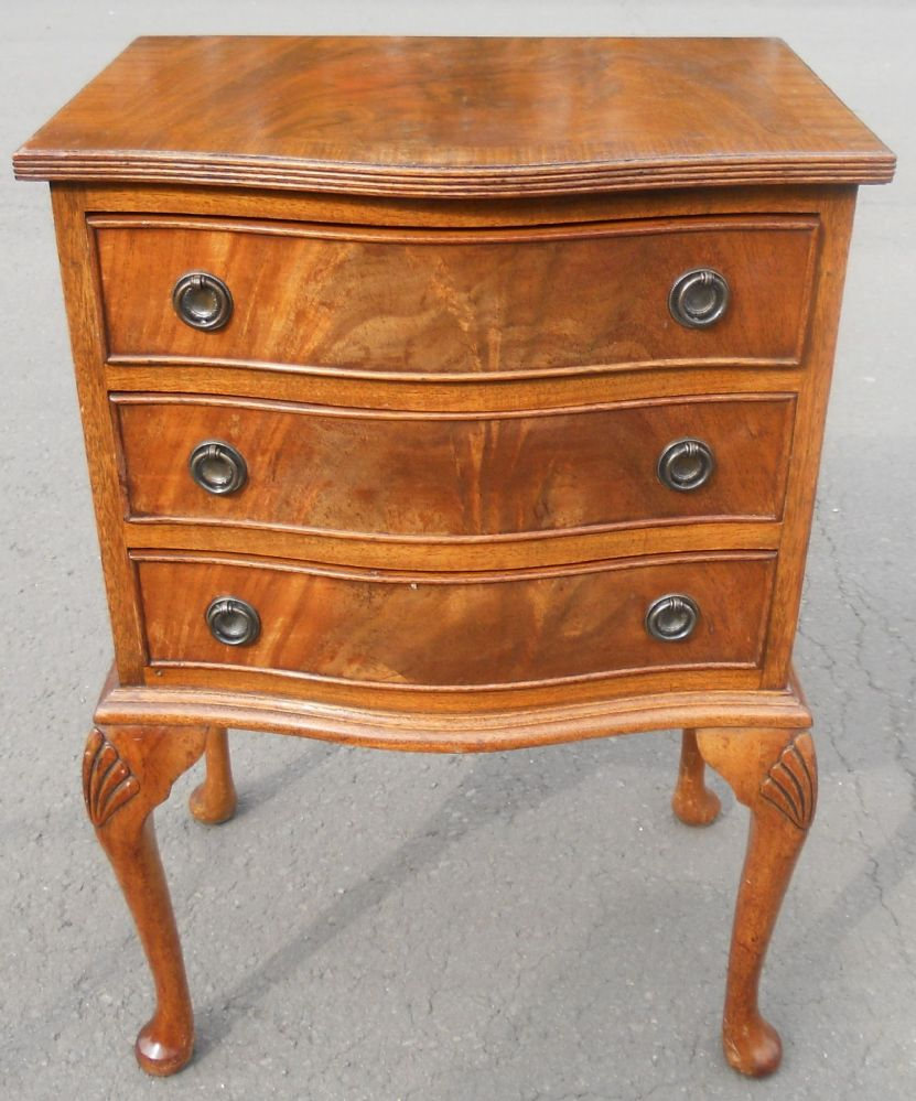 Small Serpentine Mahogany Chest Of Drawers